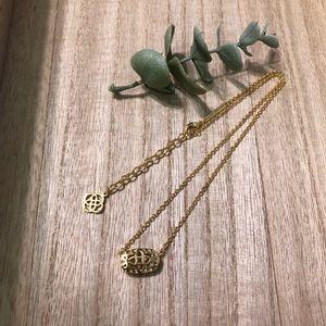 Kendra Scott Elisa Gold Necklace Missing Stone